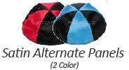 Alternate Panel 2 Color Satin Yarmulkes