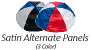 Alternate Panel 3 Color Satin Yarmulkes