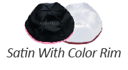 Satin Yarmulkes with Colored Rim