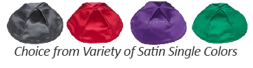 Single Color Satin Yarmulkes