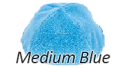 Velvet Medium Blue Yarmulkes