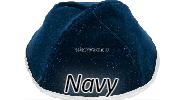 Velvet Navy Yarmulkes