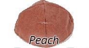 Velvet Peach Yarmulkes