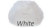 Velvet White Yarmulkes